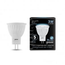 Лампа светодиодная MR11 3Вт 150-265В 4100K 300Лм GU4 Gauss