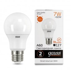 Лампа светодиодная A60 7Вт 3000K 520Лм Е27 Gauss Еlementary