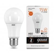 Лампа светодиодная A60 15Вт 3000K 1320Лм Е27 Gauss Еlementary