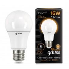 Лампа светодиодная A60 16Вт 3000K 1380Лм Е27 Gauss
