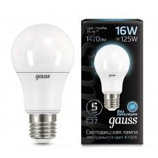 Лампа светодиодная A60 16Вт 4100K 1470Лм Е27 Gauss