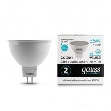 Лампа светодиодная MR16 3,5Вт 180-240В 4100K 280Лм GU5.3 мат.рас-ль Gauss Еlementary