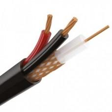 Кабель для видеонаблюдения КВК-П-1,5+2x0,75 мм² (Cu/Cu) кабель черный, уличный REXANT