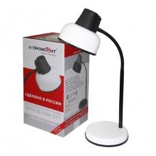 Настольная лампа Бета Ш (60Вт Е27, подставка, гибкая стойка) белая