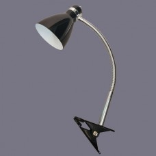 Наст. Лампа НТ-102 (B, черный, прищепка 45,5см, Е27, 60Вт, 220V)