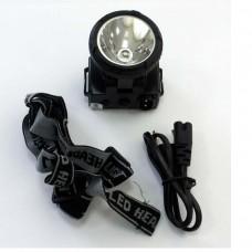Фонарь налобный LED Ultra Flash-5364 аккум