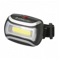 Фонарь налобный LED Ultra Flash-5380 (3Вт, 3реж, 3хR03 н/к)