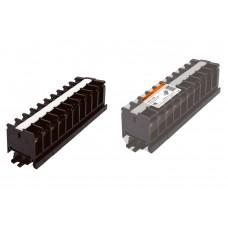 Блок зажимов БЗН 20А на DIN-рейку 10 пар TDM