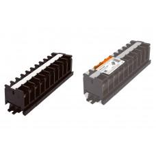 Блок зажимов БЗН 40А на DIN-рейку 10 пар TDM